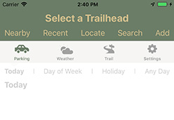 select a trailhead